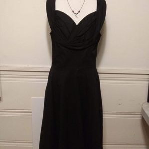 Lindy Bop Black Swing Dress Large  New